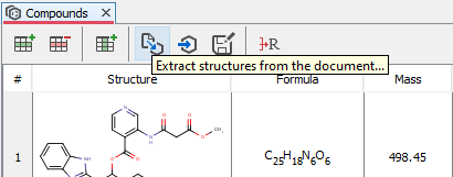 Export functions of ChemCurator