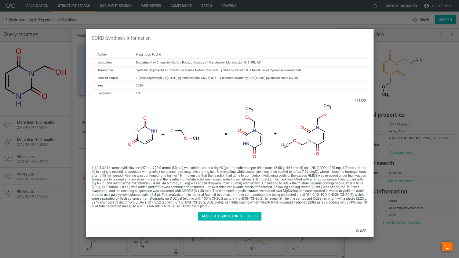 SORD Database in Chemicalize